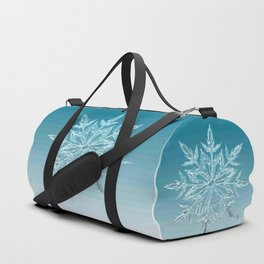 Blue Green Ice Crystal Duffle Bag