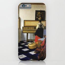 Johannes Vermeer  - The Music Lesson iPhone Case