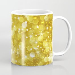Super Glan Gold Glitter Bokeh Style Coffee Mug