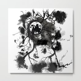 Black Angel Metal Print