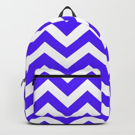 Han purple - blue color - Zigzag Chevron Pattern Backpack