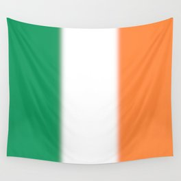 Green White and Orange Ombre Shaded Irish Flag Wall Tapestry