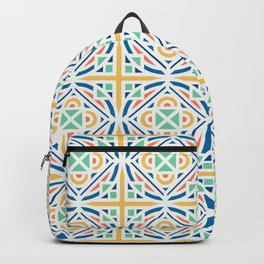 Old color combo pattern Backpack