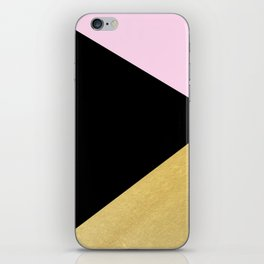 Color Block Glam Triangles iPhone Skin