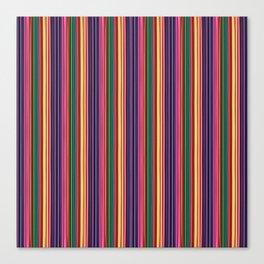 Vertical 3D Stripes Pattern Canvas Print