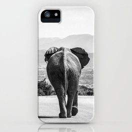 Elephant taking a stroll iPhone Case