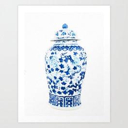 Blue Vase 2 Art Print