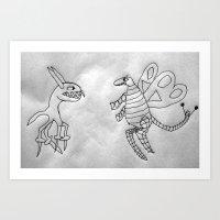 2 creatures Art Print