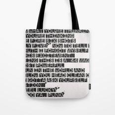 Do You Feel Lucky, Punk? Tote Bag