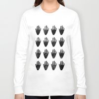 hands Long Sleeve T-shirts featuring hands by namaki