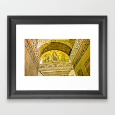Painting the sacred wall. Framed Art Print