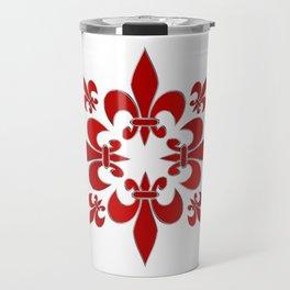 Fleur de Lis pattern Travel Mug