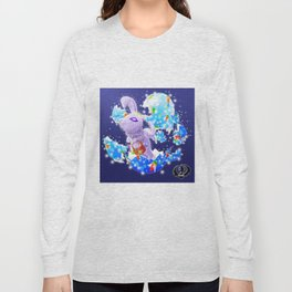 'You Cracked the Egg' Series - Easter Angelic Bunny with Premium Background Long Sleeve T-shirt