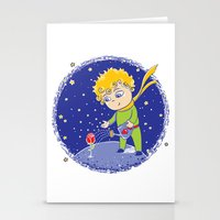 the little prince Stationery Cards featuring Little Prince by Bruna Sousa