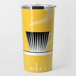 Zebra. Yellow Travel Mug