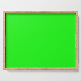 From The Crayon Box – Electric Lime - Bright Green - Neon Green Solid Color Serving Tray