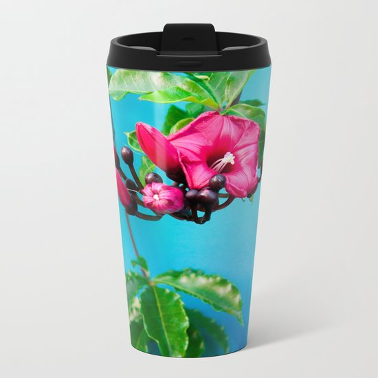 Tropical Blue 4 Metal Travel Mug