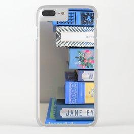 Shelfie in Blue 1 Clear iPhone Case