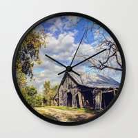 kentucky Wall Clocks featuring Kentucky Barn by JMcCool