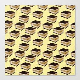 Tiramisu lover // Tiramisu pattern // food pattern Canvas Print