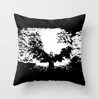 dracula Throw Pillows featuring Dracula by Panda Cool