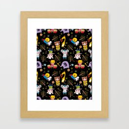 Cute animals band Framed Art Print