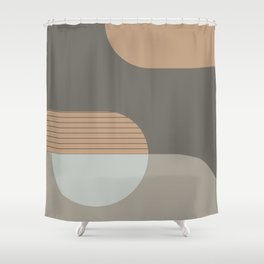 Abstract Composition 14 Shower Curtain