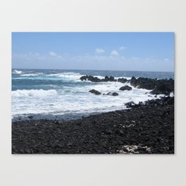 Black and Blue Earth Canvas Print