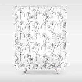 Amancay Wildflower Pattern Shower Curtain