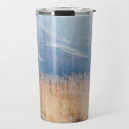 Blue and orange Travel Mug