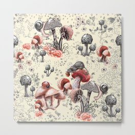 Fungi and Friends Metal Print