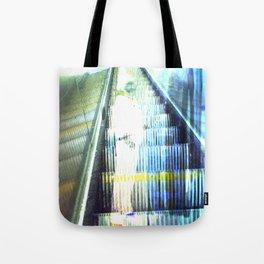 Light Escalator - Double Exposure Tote Bag