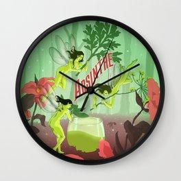 The Green Fairies Wall Clock