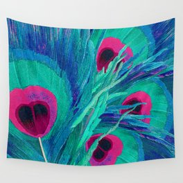 Peacocks Feathers Wall Tapestry