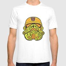 Neon Trooper. MEDIUM White Mens Fitted Tee