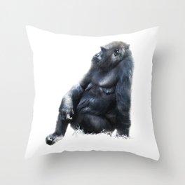 Sitting, waiting, wishing Throw Pillow