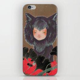Fox Spirit Kitsune in Gingko iPhone Skin