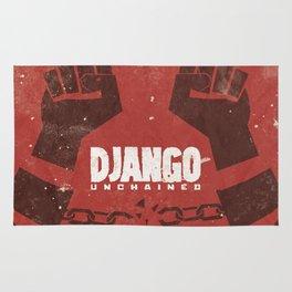 Django Unchained, Quentin Tarantino, minimalist movie poster, Leonardo DiCaprio, spaghetti western Rug
