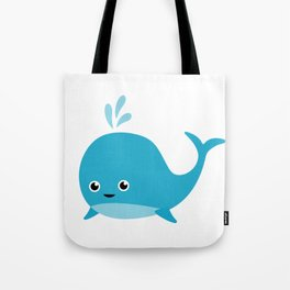 Cute Baby Whale Tote Bag