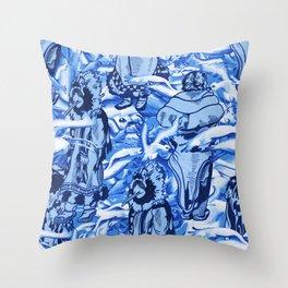 Eskimo Curlew Blue Throw Pillow