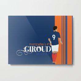 Olivier Giroud: Montpellier - Les Bleus Metal Print
