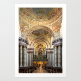 Organ of Herzogenburg Abbey church (Lower Austria) by Johann Hencke (1752) Art Print