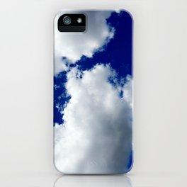 Clear Blue Sky Clouds iPhone Case