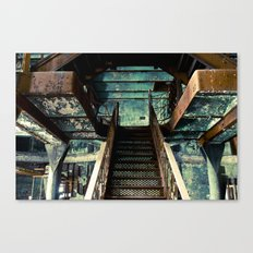 Original Rainier Brewery Stairs Canvas Print
