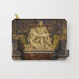 La Pieta Sculpted by Michelangelo photographed at St-Peter's Basilica Carry-All Pouch