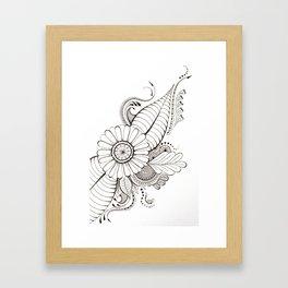 Delicate Floral Framed Art Print