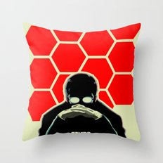 Gendo Ikari from Evangelion. Super Dad. Throw Pillow