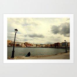 sightseeing in Chania-Crete Art Print