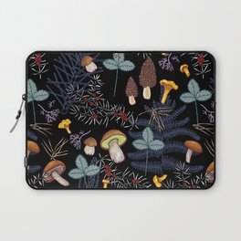 dark wild forest mushrooms Laptop Sleeve