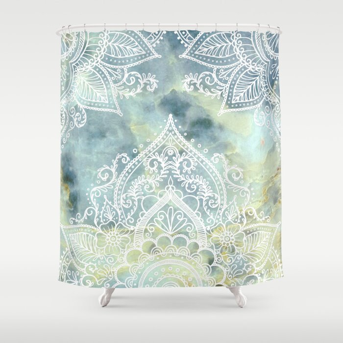 MANDALA ON MARBLE Shower Curtain